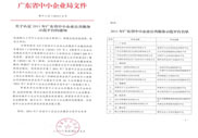 2011年广东省中小企业公共服务示范平台